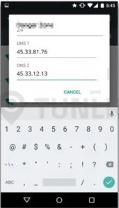 Get access to blocked websites on Android